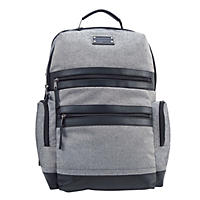 Renwick Business Backpack with Genuine Leather Trim (Gray)