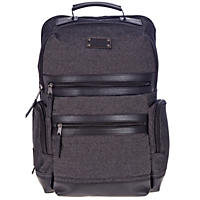 Renwick Business Backpack with Genuine Leather Trim (Black)