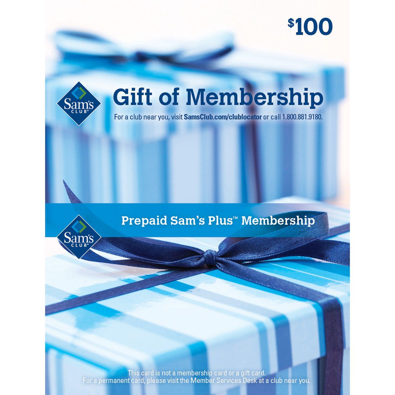 gift of membership 100 sam s club