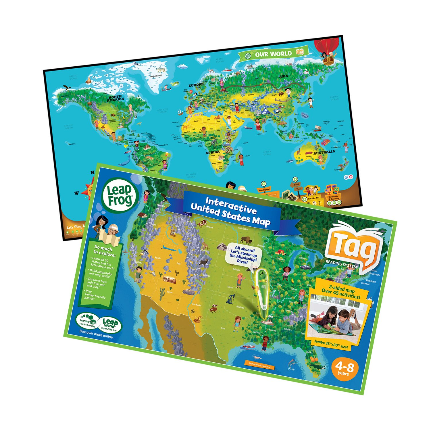 Leapfrog Interactive World Map.Leapfrog Tag Interactive Maps Bundle Sam S Club