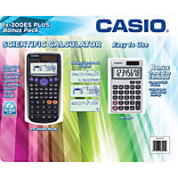 Casio fx-300ES Plus Scientific Calculator & SL-300SV Bonus Pack (Black)