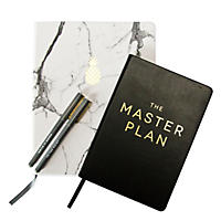 (Free Shipping)Eccolo 2 Journals and 2  Pen Set - Marble Master