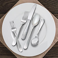 Tomodachi Marguerite 20-Piece Hammered Flatware Set