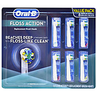 6 ct. - Floss Action Oral-B Replacement Brush Heads