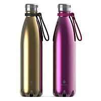 Manna Vogue Double-Wall Insulated Bottles, Set of 2 - Gold and Punch
