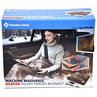 Member's Mark 12V Plush Heated Travel Blanket (Tan)