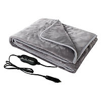 Member's Mark 12V Plush Heated Travel Blanket (gray)