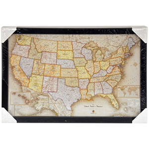 "Home Magnetics 35"" x 23"" Magnetic Office USA Map"