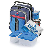 Arctic Zone Pro High-Performance Dual Compartment Kids Lunch Box - Navy Blue/Roya