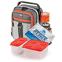 Arctic Zone Pro High-Performance Dual Compartment Kids Lunch Box - Grey/Orange