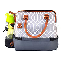 Arctic Zone Lunch Tote, Grey and White