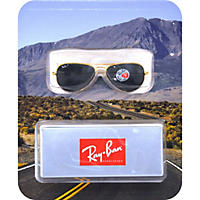 Gold Ray-Ban Sun Polarized Glasses
