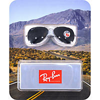 Silver Ray-Ban Sun Polarized Glasses