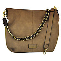 G.H. Bass & Co. Hampton Collection Hobo Bag Taupe