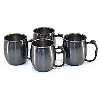 Member's Mark 4 Pk Moscow Mule Mug Set Brushed Gunmetal