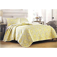 Laura Ashley King 3 Piece Quilt Set, Percy