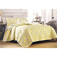 Laura Ashley Full/Queen 3 Piece Quilt Set, Percy But