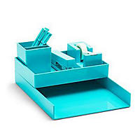 Poppin All Set. 12-Piece Desk Collection, Aqua