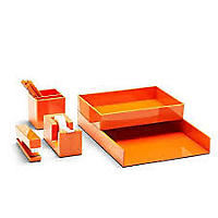 Poppin All Set. 12-Piece Desk Collection, Orange
