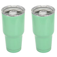 Member's Mark 30 Oz Colored Tumbler 2 Pk, Mint