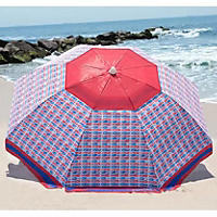 Nautica Beach Umbrella, Red/Blue