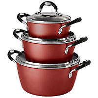 Tramontina 6-Piece Stackable Cookware Set, Red