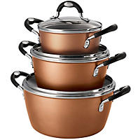 Tramontina 6-Piece Stackable Cookware Set, Copper