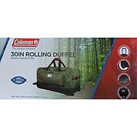 "Coleman 30"" Rolling Drop-Bottom Duffel Bag, Green"