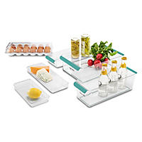 Madesmart 6-Piece Premium Fridge Storage Set, Teal