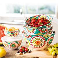 Melamine 10-Piece Mixing Bowl Set (Medallion)