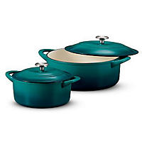 Tramontina Dutch Oven Set 2-pack, Teal