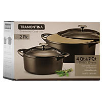 Tramontina Dutch Oven 2 Pack Set, Black