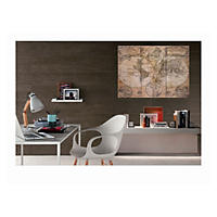 3-Piece Canvas Wall Décor, Brown Map