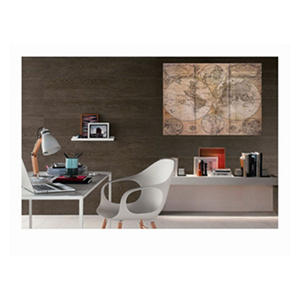 3 Piece Canvas Wall Décor Brown Map