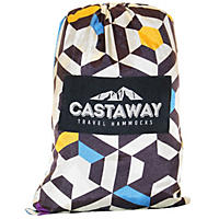 Castaway Travel Hammock, Yellow Print