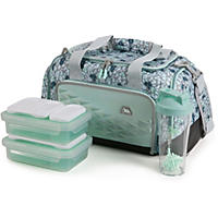 Arctic Zone Portion Control Insulated Duffel Lunch Bag, Teal Cheetah