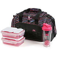 Arctic Zone Portion Control Insulated Duffel Lunch Bag, Galactic Multi Color