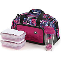 Arctic Zone Portion Control Insulated Duffel Lunch Bag, Tie Die