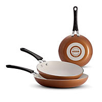 Tramontina 3 Pk Fry Pans, Light Brown