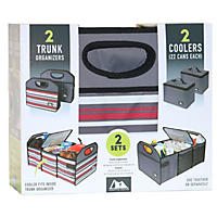 Arctic Zone 2Pk Trunk Organizer with Coolers, Gray