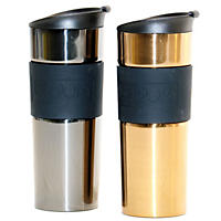 Bodum 2 Pk Travel Mug, Gold and Gunmetal