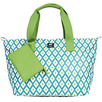 Dabney Lee Carryall Tote Set Blue Geo