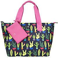 Dabney Lee Carryall Tote Set Navy Cactus