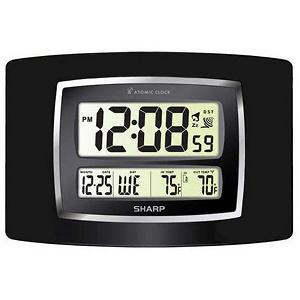 Sharp Digital Atomic Wall Clock Black Samsclub Com Auctions