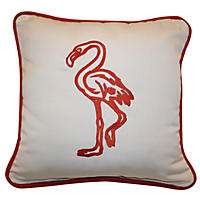 Peak Season Coastal Toss Pillow, Flamingo