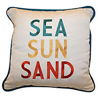 Peak Season Coastal Toss Pillow, Sea Sun Sand