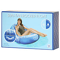 Sun Tan Rocker Lounger, Navy