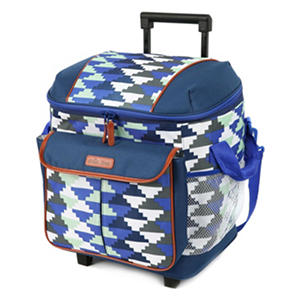 Arctic Zone Insulated Rolling Tote, Blue