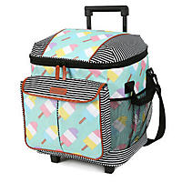 (Free Shipping) Arctic Zone Insulated Rolling Tote, Popsicle