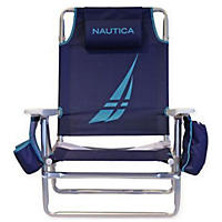 Nautica Beach Chair, Blue and Teal